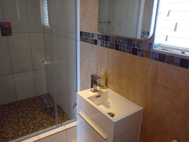 Plumber cape town bathroom renovation - New Shower and Mixer
